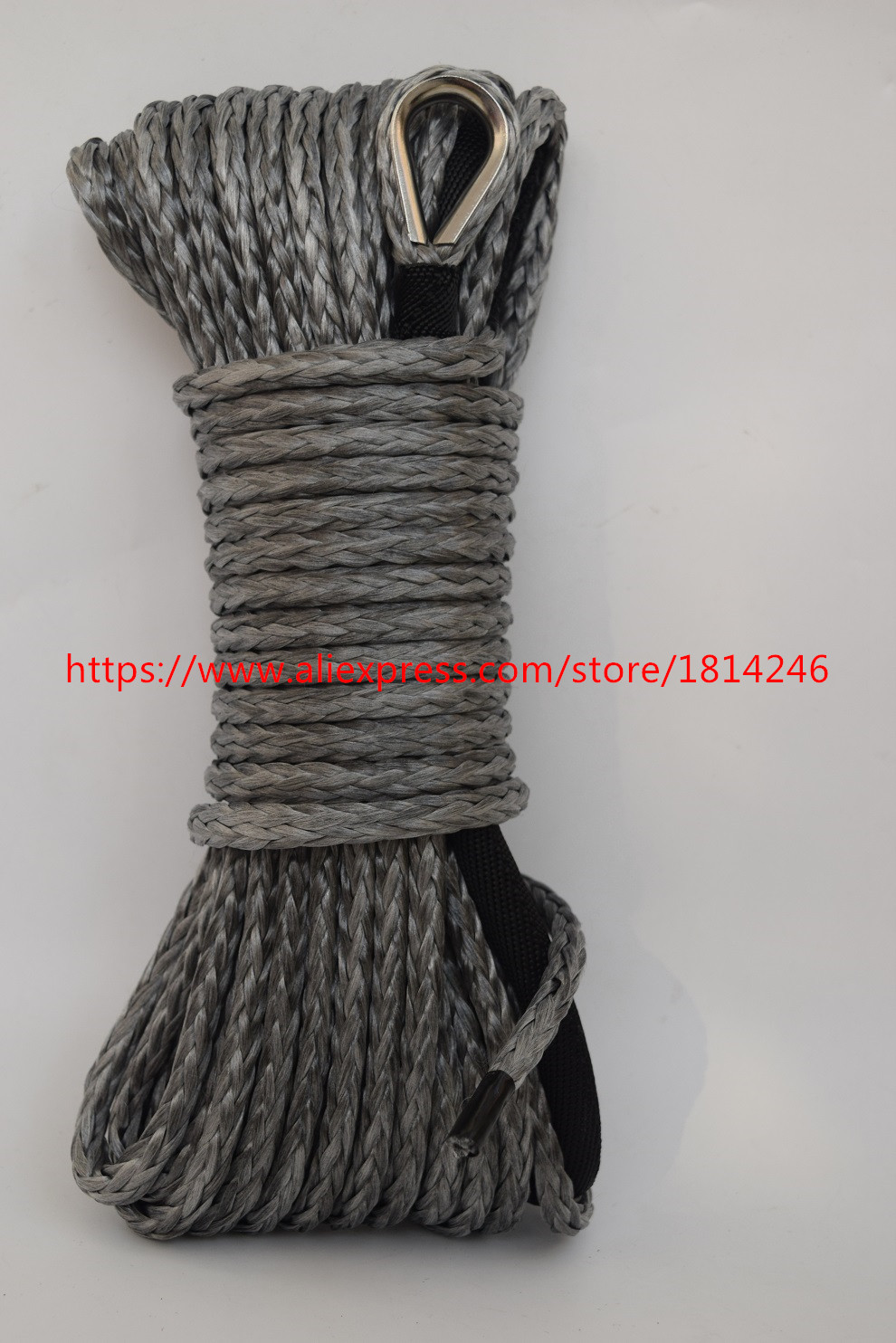Free Shipping Grey 6mm*15m Synthetic Winch Rope for Offroad Parts,ATV Winch Cable,Off Ro ...