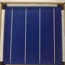 10 шт. светодиодные полосы освещения мощностью 45 Вт 156 мм эффективность фотоэлектрической солнечной батареи из поликристаллического кремния, 6x6 дешевые цены класса А с лакированным набор «сделай сам» для PV солнечная панель из полимера