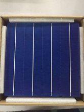 Célula Solar de silicio policristalino fotovoltaico, eficiencia de 45W y 156MM, 6x6 precios, Grado A barato para Panel Solar de polímero PV DIY, 10 Uds.