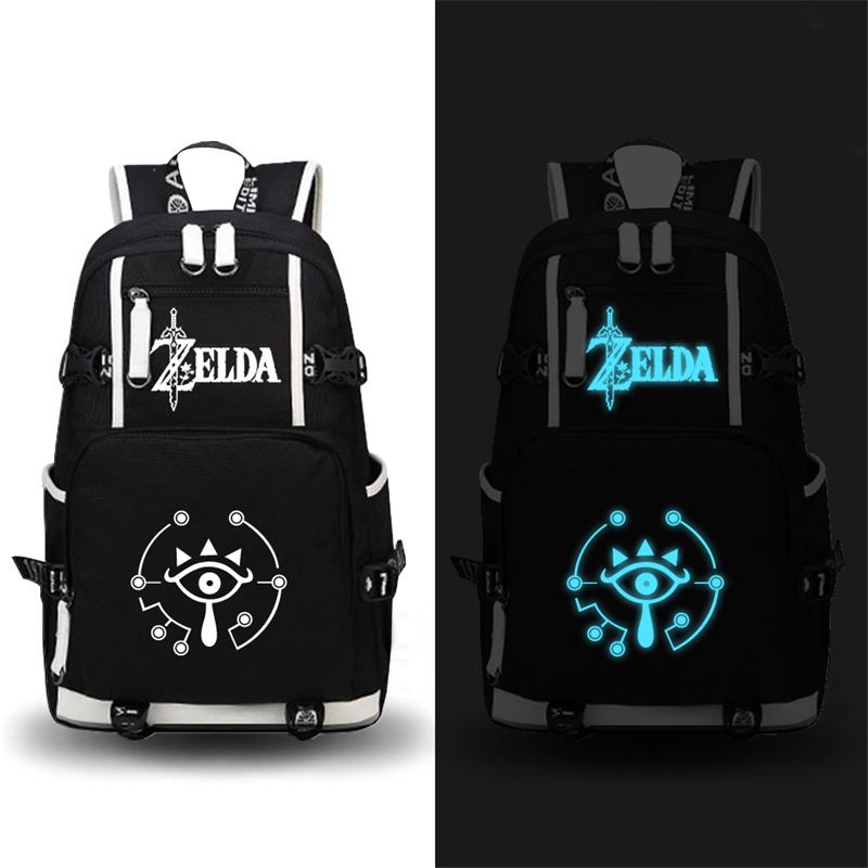 High Quality 2017 Game The Legend Of Zelda: Breath Of The Wild Printing Zelda Backpack Canvas School Bags Travel Laptop Backpack #5