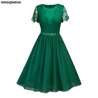 In Stock Cheap Simple Green Cocktail Dresses Short Lace Sleeve Elegant Homecoming Dress Navy Blue Formal