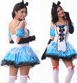M~XL New Snow White Fantasia Maid Alice Halloween Adult Costume Lolita Cosplay Costumes Sexy Party Women Uniform Mini Dress Gown
