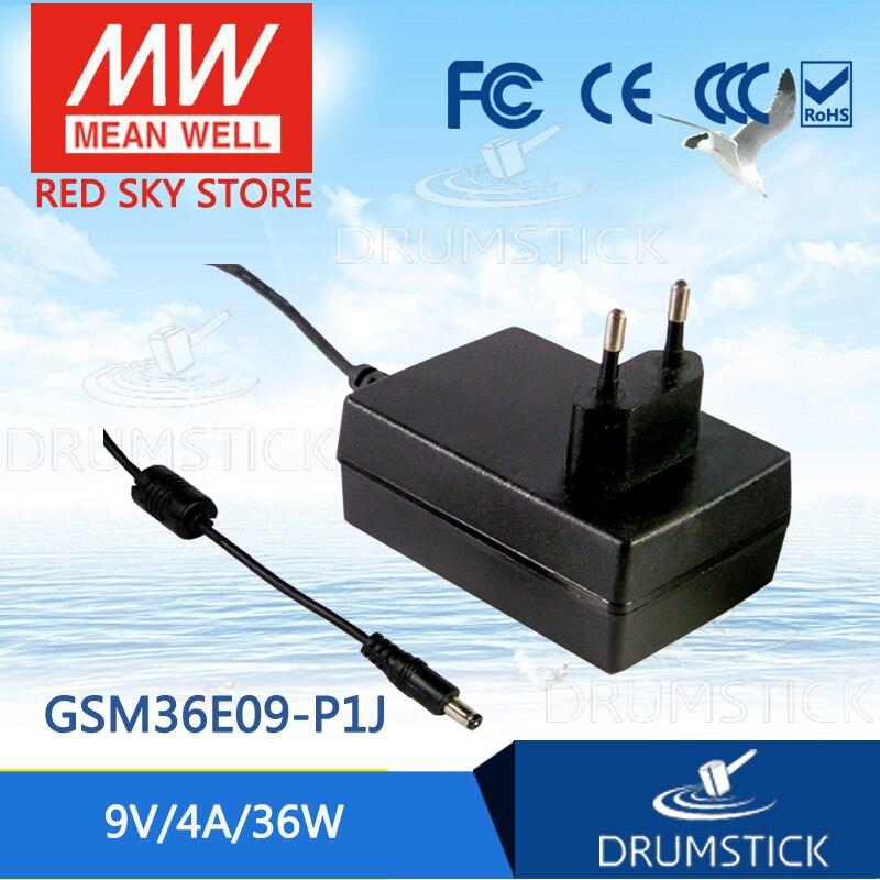 Advantages MEAN WELL GSM36E09-P1J 9V 4A meanwell GSM36E 9V 36W AC-DC High Reliability Medical Adaptor сетевой адаптер dc 9v новосибирск