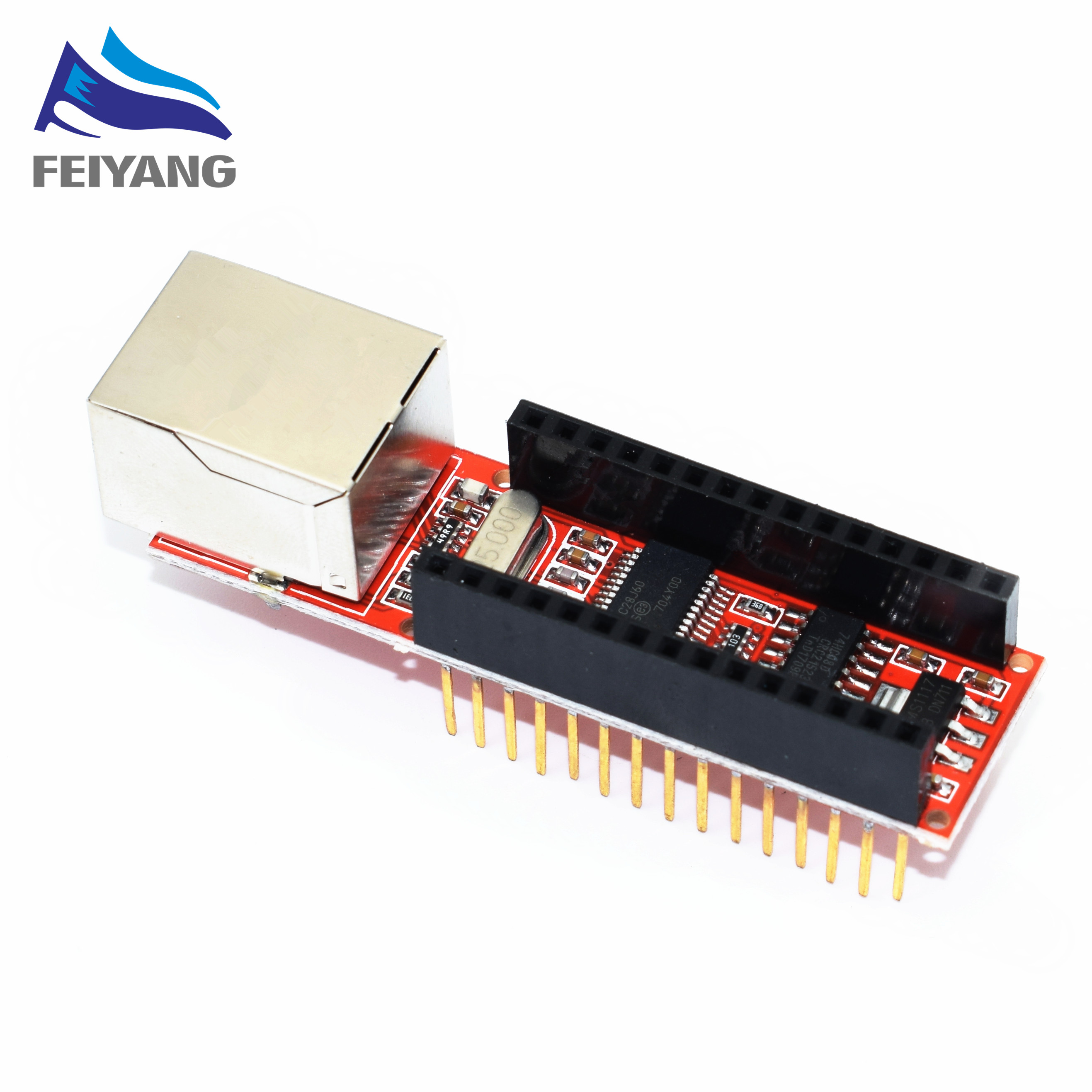 1 pz ENC28J60 Ethernet Shield V1.0 Nano 3.0 RJ45 Modulo Webserver (hong)1 pz ENC28J60 Ethernet Shield V1.0 Nano 3.0 RJ45 Modulo Webserver (hong)