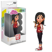 Official Funko Rock Candy Comfy Princesses Mulan Vinyl Action Figure Collectible Model Toy with Original Box