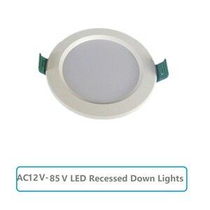 Image 1 - LED downlight AC12V 85V yuvarlak gömme tavan lambaları 5W 9W 12W 15W 18W soğuk beyaz 6500K ampuller yatak odası mutfak iç Spot
