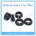 3 pcs Para Openbuilds C-feixe de Impressora 3D Engrenagem Intermediária perlin Passiva Rodada roda Roda Dupla V Slot de Plástico sem Rolamentos 3D0007