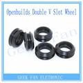 3pcs For 3D Openbuilds C-beam Printer Idler Gear perlin Wheel Double V Slot Plastic Passive Round wheel without Bearings 3D0007