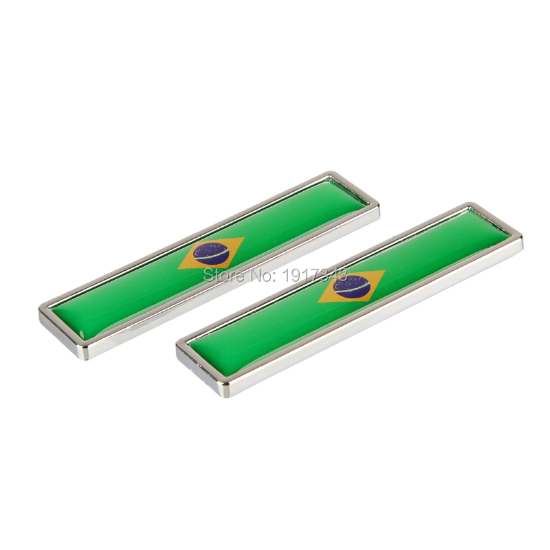 3D Car Stickers Auto Metal Emblem Badge Car Styling Flag of Brazil Decal Car Decorate Sticker Accessories 1 pair door protector anti collision canada flag emblem 3d car stickers creative car styling automobile accessories