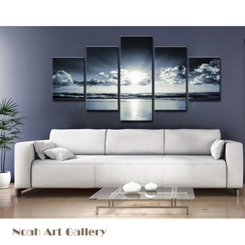 High Definition Sunrise Seascape Print On Canvas Waterproof Glossy Canvas Printings Home Decor Wall Art Spray Paintings Canvas