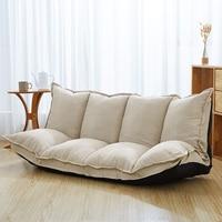 Льняная ткань обивка Регулируемый напольный диван кровать Sleeper Пол ленивый диван мебель для гостиной Видео игровой диван