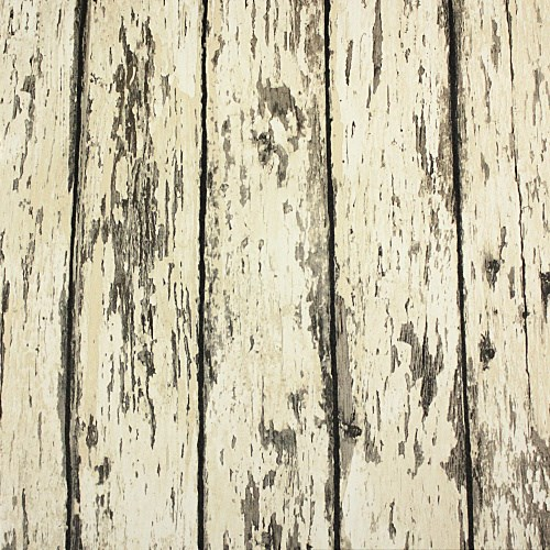 Weathered rustic barn wood grain look plank vinyl 1 wall wallpaper