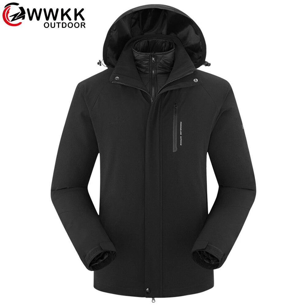 Femmes/hommes hiver 2 pièces vestes plein air Sport imperméable thermique randonnée Ski Camping escalade femme veste coupe-vent Outwear