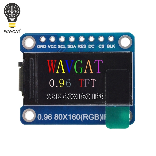WAVGAT TFT Display 0.96 / 1.3 inch IPS 7P SPI HD 65K Full Color LCD Module ST7735 / ST7789 Drive IC 80*160 240*240 (Not OLED) 1