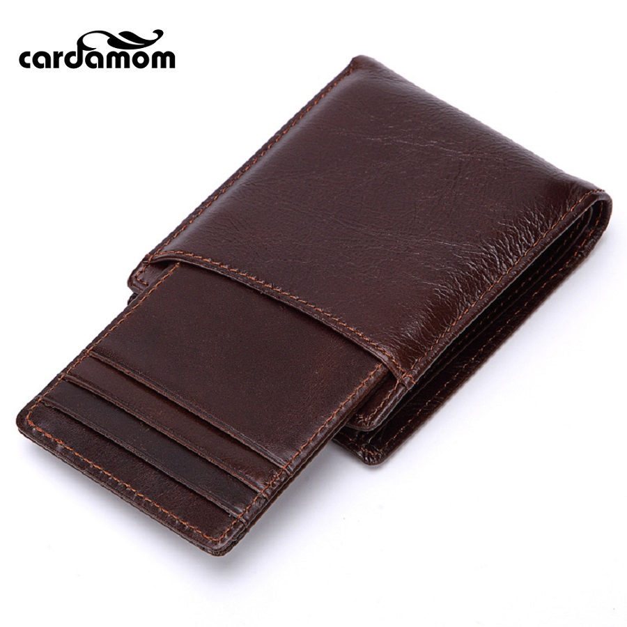 Cardamom Brand Wallet Purse Short Male Clutch Genuine Leather Retro Style Wallet Mens Money Bag Quality Detachable Card Package baellerry brand wallet men leather men wallets purse short male clutch leather wallet mens money bag quality guarantee