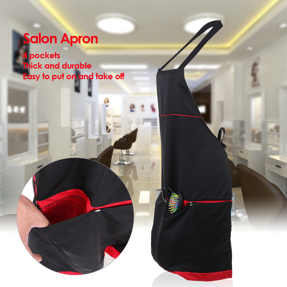 Durable 4 Pockets Salon Apron barber accessories for Barber Hair Cutting Dyeing Cape Cloth peluqueria accesorios profesional Hai