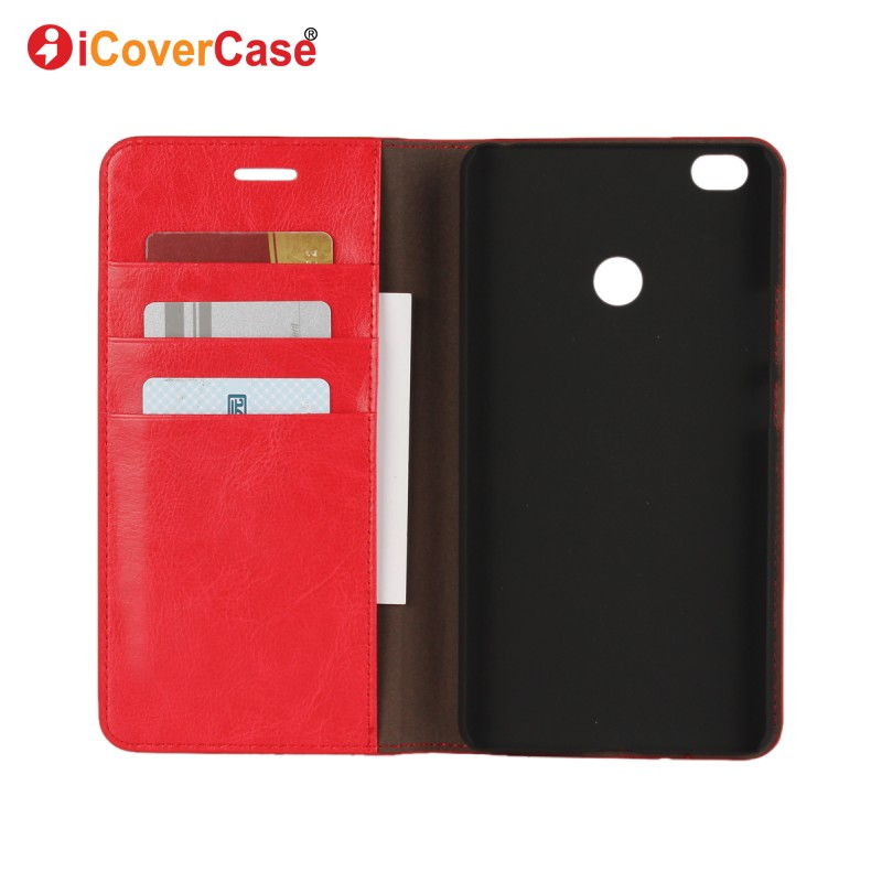 Leather Cover Case for Xiaomi Mi Max Flip Wallet Coque Stand Mobile Phone Accessory Bag Shell