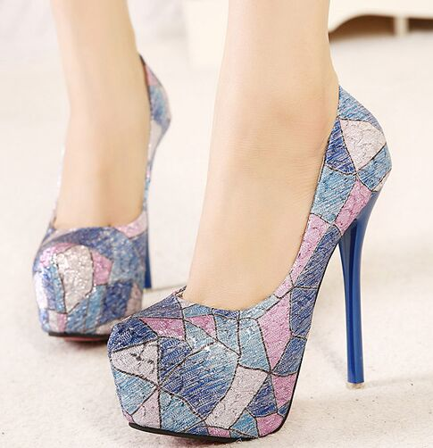 Size 4 8 Hot Purple High Heel font b Women b font Shoes Sexy 13cm Pumps