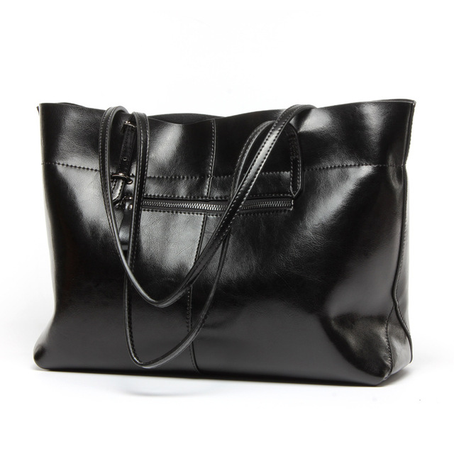 2016 genuine leather women bag fashion Women Handbag Large Shoulder Bags Elegant Ladies Tote Sacthel Purse Top-handle bags