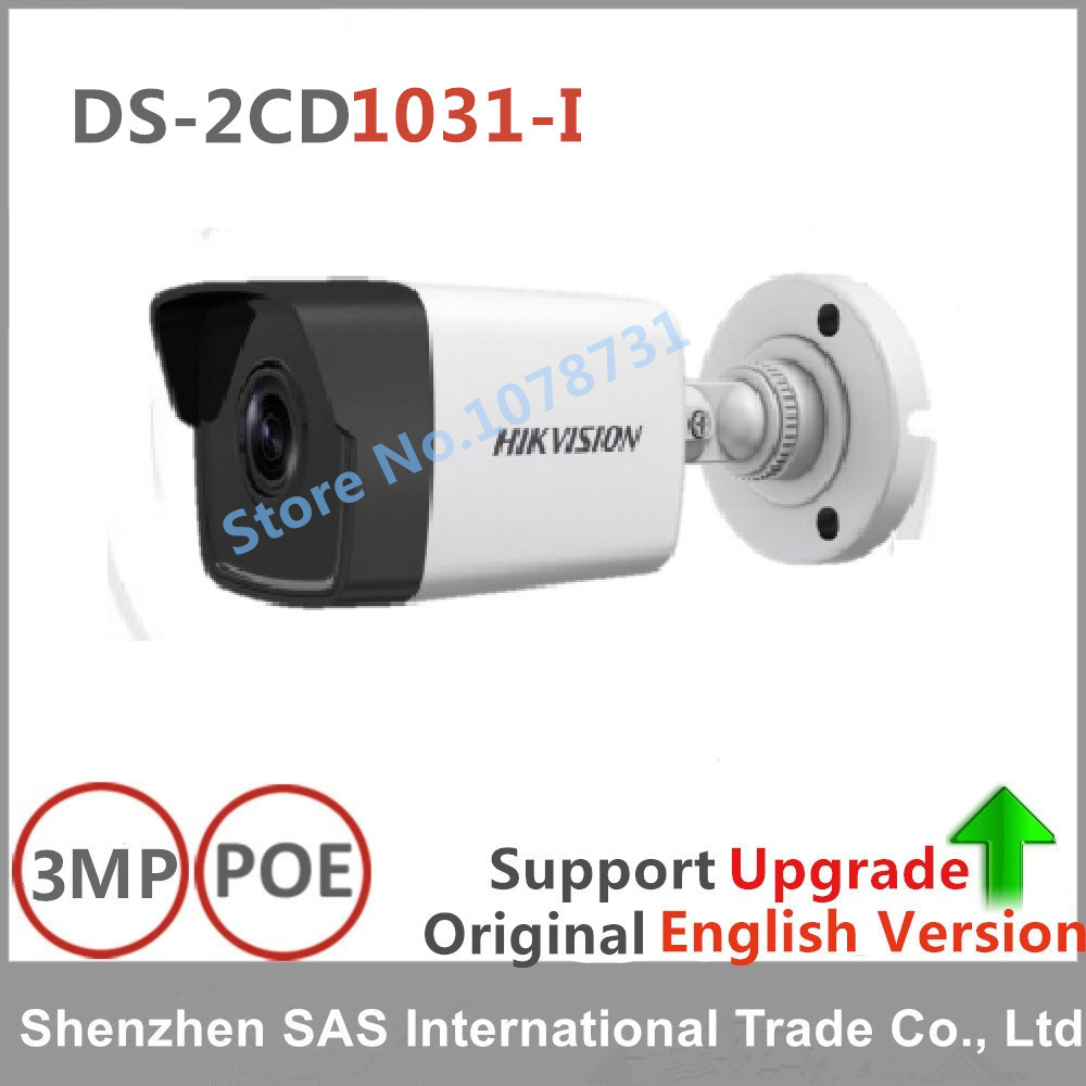 2017 Hikvision New Released 3MP CMOS Network Bullet Camera DS-2CD1031-I replace DS-2CD2035-I 30m IR CCTV Camera DWDR IP67 hikvision new released 8mp h 265 network dome camera ds 2cd2185fwd i 3d dnr bullet camera 3840 2160 resolution ik 10 ip 67