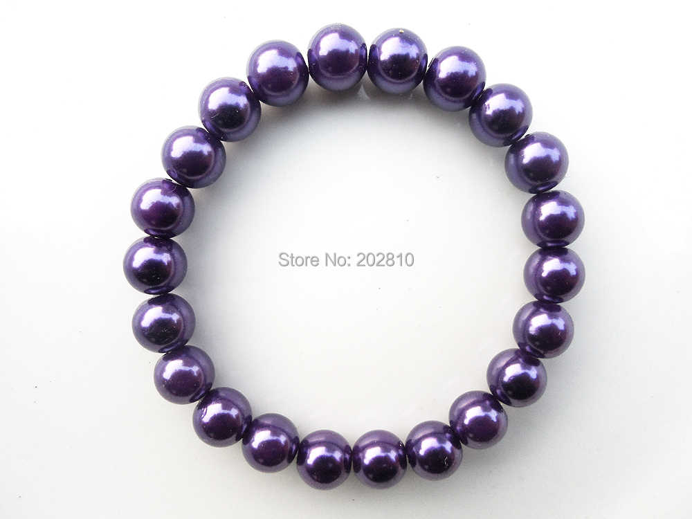 {fashion 8mm purple pearl bracelet for women,purple friendship bracelet jewelry,fine quality purple beads stand bracelets
