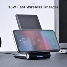 15 W Qi Kablosuz şarj aleti pedi iPhone Xs Için Max X 8 Artı Xiao mi mi 9 mi x 3 2 s Samsung S10 S9 S8 S7 Not Hızlı Kablosuz Şarj