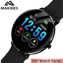 รับประกัน 1 ปี MAKIBES L6 DIY นาฬิกา Smartwatch หน้า 30 วันสแตนด์บาย IP68 กันน้ำ 250mAh แบตเตอรี่ Fitness tracker สมาร์ทนาฬิกา
