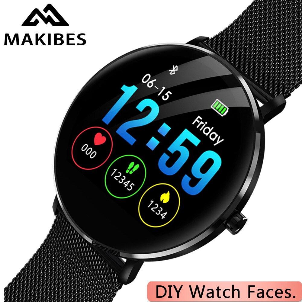 1 an de garantie MAKIBES L6 montre à assembler soi-même Smartwatch visage 30 jours en veille IP68 étanche 250 mAh batterie Fitness tracker montre intelligente