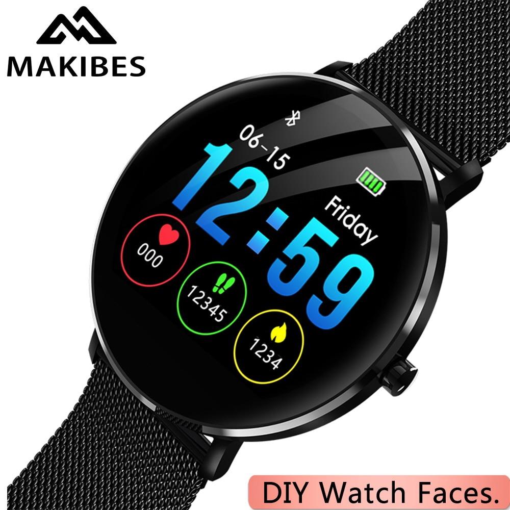 1 année Garantie MAKIBES L6 DIY visage de Montre Smartwatch 30 jours Veille IP68 étanche 250 mAh Batterie Fitness tracker Smart montre