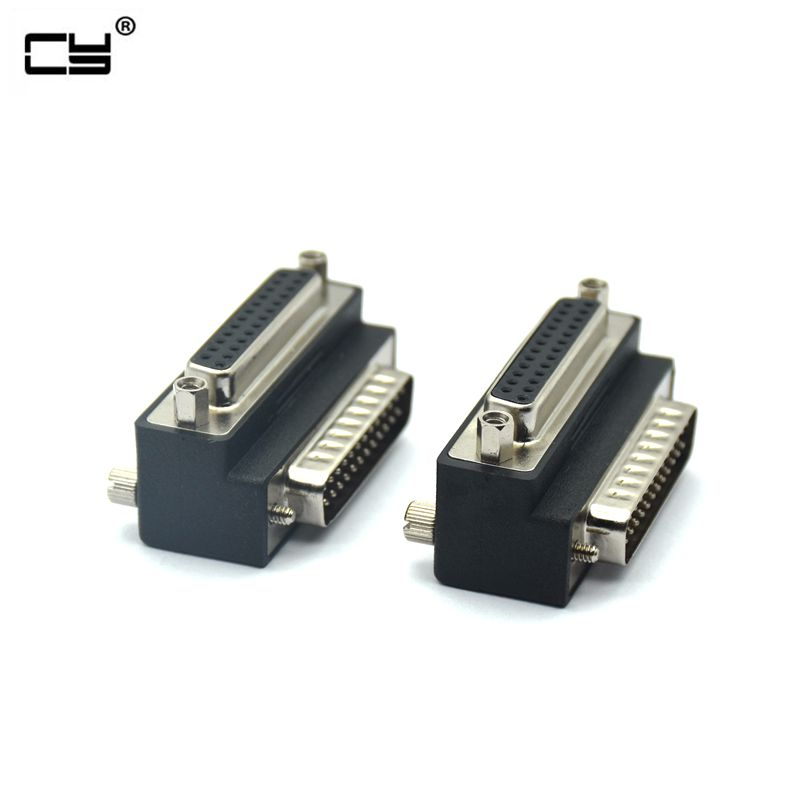 90 Degree Right Down Angled DB25 25 Pin Male To Female Extension Parallel Connector Adapter For IEEE 1284 Printer