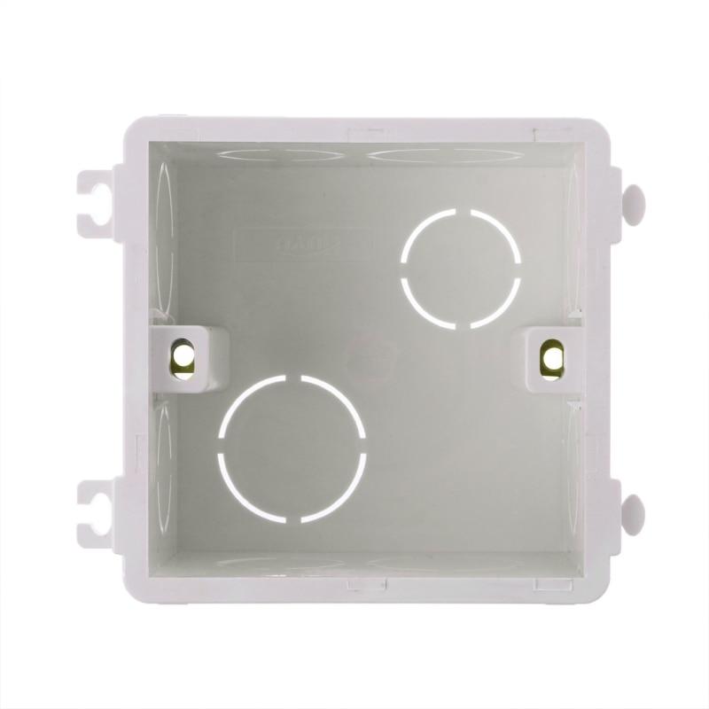 5pcs White Plastic Black Waterproof Case Project Junction Box 40*20*11mm yN