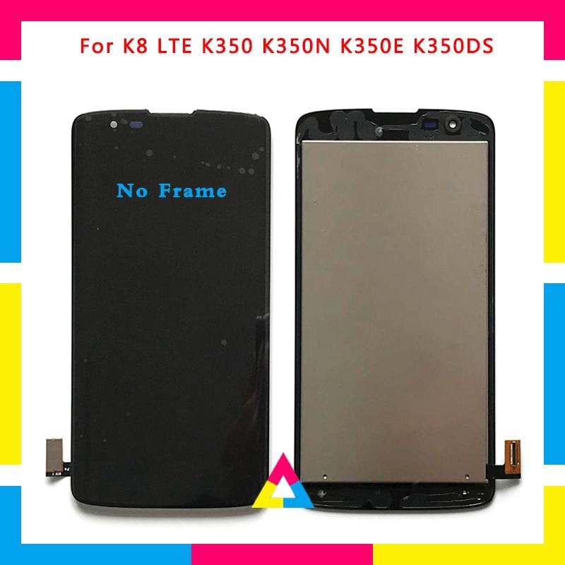 967f251bcc5 5 unids/lote pantalla LCD con pantalla táctil digitalizador para LG K8 K350  K350N K350E K350DS negro blanco