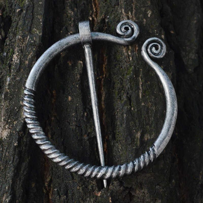 Qihe Perhiasan Penannular Bros Jubah Pin Syal Gesper Abad Pertengahan Norse Jimat Viking Perhiasan Viking Gaya Pin Koleksi