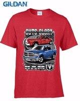 Gildan 2018 Bardzo Popularny Styl Slim Fit Bawełny Wysokiej Jakości Mężczyzna Ram T Shirt Pick-Up Truck American Classic V8 Samochodów koszulkę