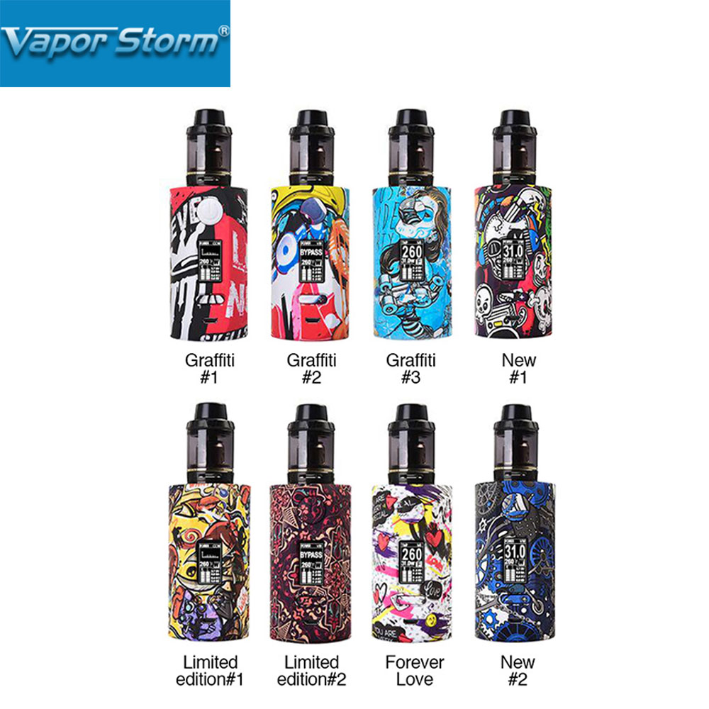 200W Vapor Storm Storm230 TC Kit Puma Kit w/ 2ml Hawk Tank Powered By Dual 18650 Battery Fall-proof & Scratch-proof Vape Box Mod new 90w vapor storm eco kit w 2ml vapor storm tank powered by 18650 battery max 90w output vape box mod vs vapor storm storm230