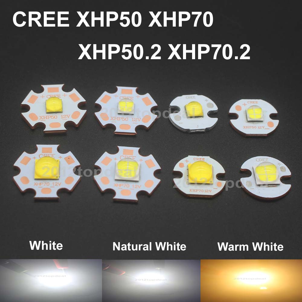 Jammas 10PCS CREE XHP50 XHP70 XHP50.2 XHP70.2 2nd Generation Cool White Neutral Warm White 18W 32W LED Emitter DIY Flashlight Bulb lamp Emitting Color: Warm White 3000K, Wattage: XHP70 LED