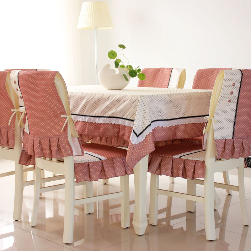 New Dining Table Cloth Tablecloth Chair Covers Padded Upholstery Fabric Suit Garden Fresh And Stylish