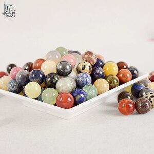 100 г Кристальные шарики с натуральными камнями и минералами, сферический фэншуй, натуральный камень, лечебные чакры, массажные шарики для ру...
