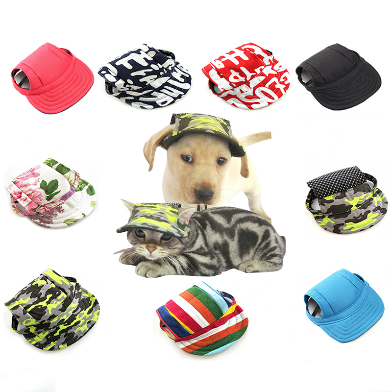 Dog Hat Cat Pet Accessories For Small Dogs Baseball Dog Cap Breathable Canvas CAP For Dogs Puppy Outdoor Sunbonnet Собака