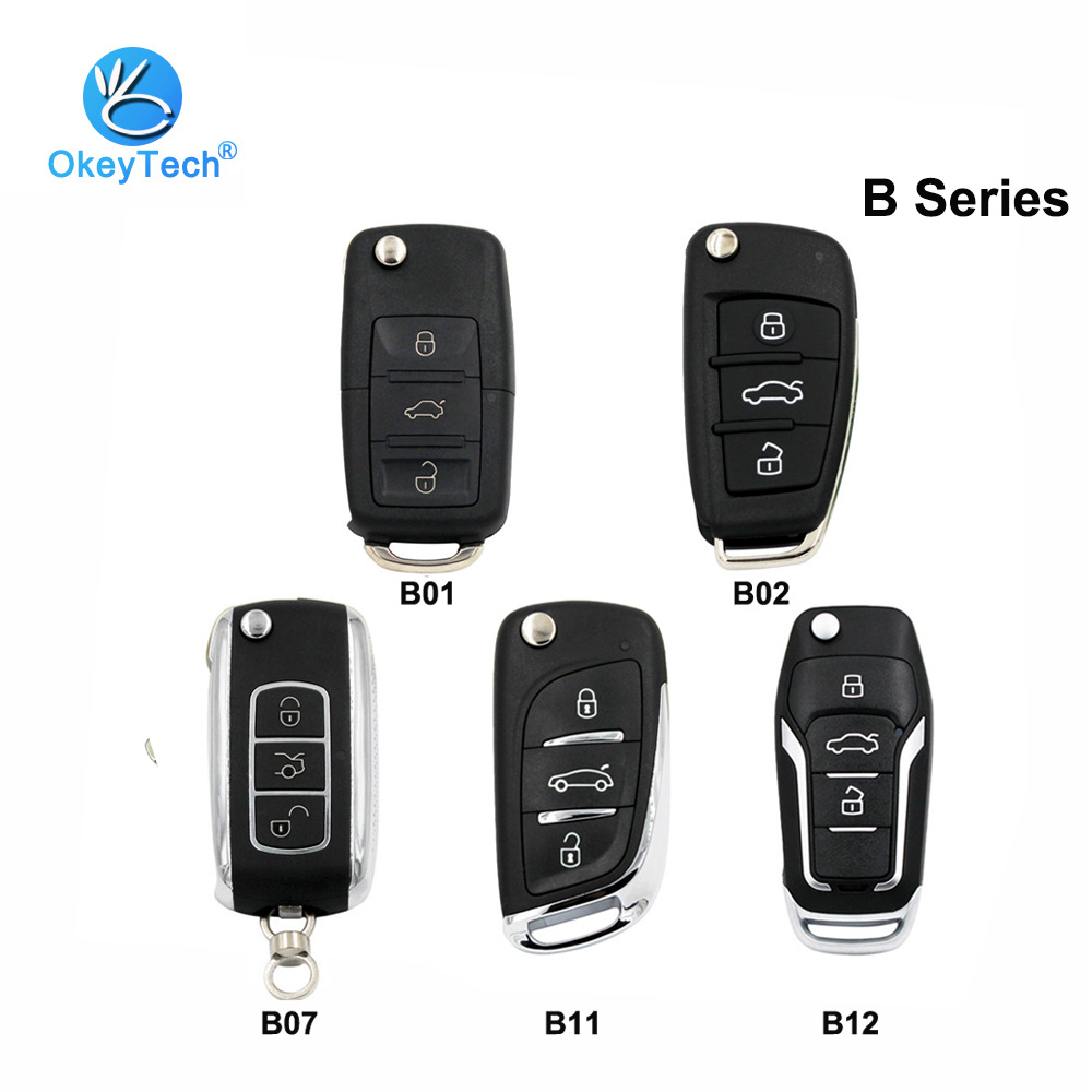 OkeyTech 5pcs lot B01 B02 B07 B11 B12 KD Remote Control Car Key Original B Series