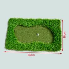 MINI Green Golf Mat 65x38cm Training Hitting Pad Practice Rubber Tee Holder golf putting mat indoor