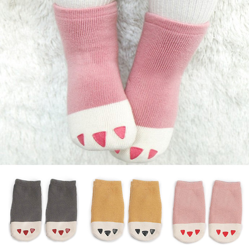 Nice Baby Newborn Infant Floor Sock Boys Girls Kids Rabbit Bear Cotton Socks