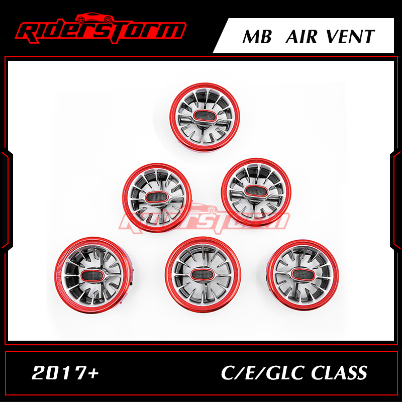 12.12 di promozione Per w205 w213 X253 classe C C200 C180 classe E E43 E450 GLC per auto di classe variabile parti di aria vent