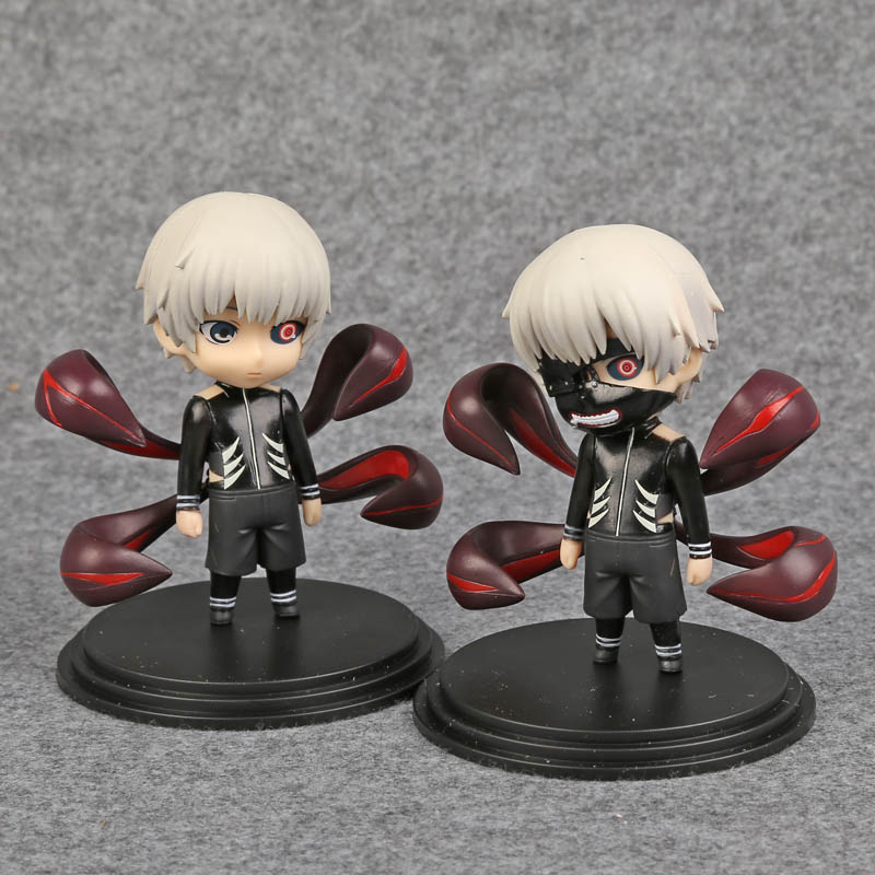 Tokyo Ghoul Action Figures Kaneki Ken Model Toy Q.ver Cartoon Figuras Anime 100mm PVC Toys Pvc Tokyo Ghoul Figure 2pcs/set anime tokyo ghoul figure toys kaneki ken model toy anime action figures cartoon kid toys p vc v53c href