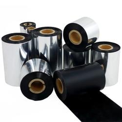 Taśma woskowa z żywicy  termotransferowy folia z tuszem taśma szerokość 50mm ~ 110mm 300m 90m 110x70m Zebra 2844 drukarka etykiet|Taśmy do drukarek|Komputer i biuro -