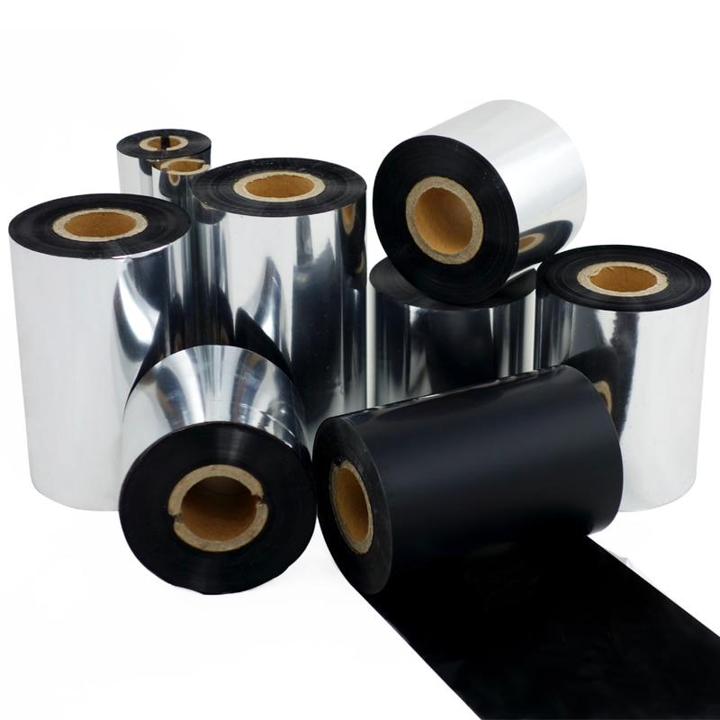 resina de cera da fita pelicula de transferencia termica de tinta mistura largura fita 50mm 110