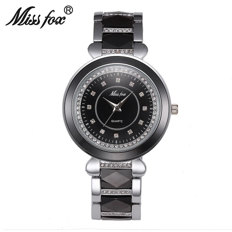 Новые женские часы брендовые кварцевые часы Роскошные водонепроницаемые золотые часы с розами Модные женские белые керамические часы Бесп... - 2