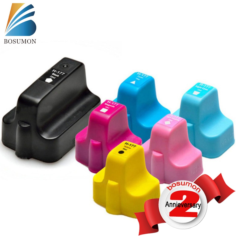 Bosumon Remanufactured Ink Cartridge for HP 177 xl compatible with Officejet C5175 C5183 C6175 C7170 Printer
