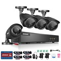 ANNKE 8-Channel HD 1080N Video Security System DVR  (4) HD 960p Indoor/Outdoor Cameras with IP66 Weatherproof