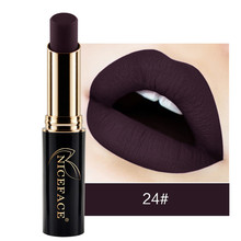 New Matte Lipstick NICEFACE 1PC Sexy Lip Stick Waterproof Matte Lipstick Lip Gloss Makeup